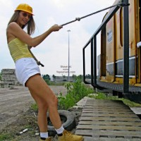 Robin Playing With Heavy Equipment  1