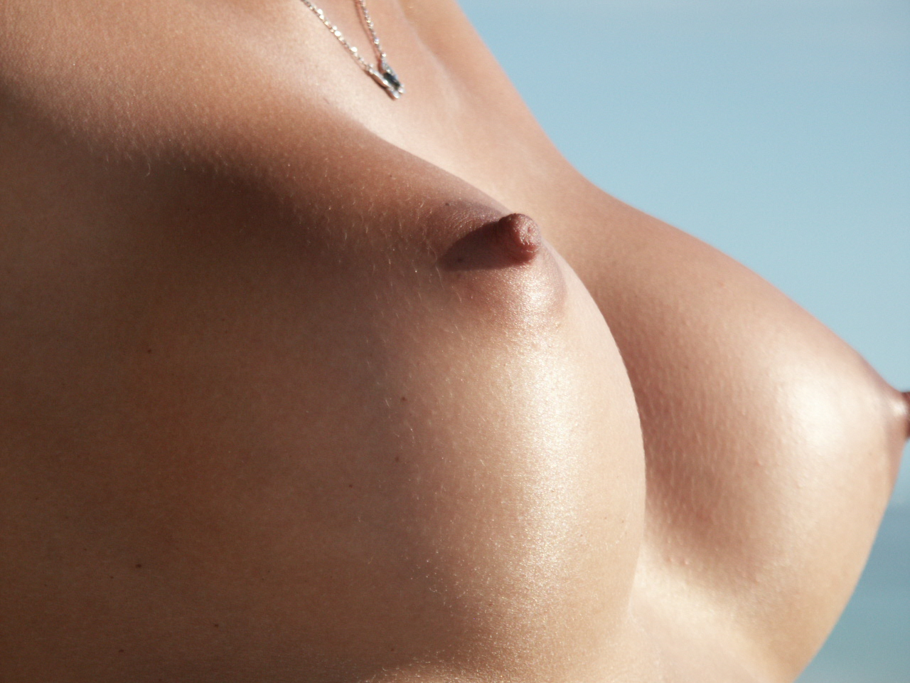 Close up sexy nude tits