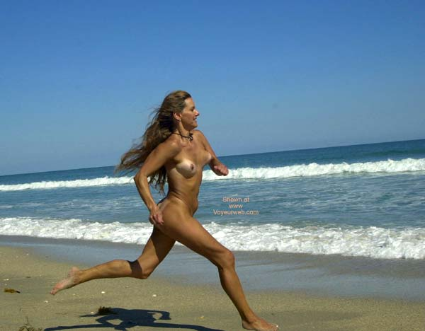 Naked Girl Running On Beach - Long Hair, Nude In Public, Nude Outdoors, On Beach, Tan Lines , Naked Girl Running On Beach, Nude In Public, Long Hair, Tan Lines, Outdoors, Athletic Titties
