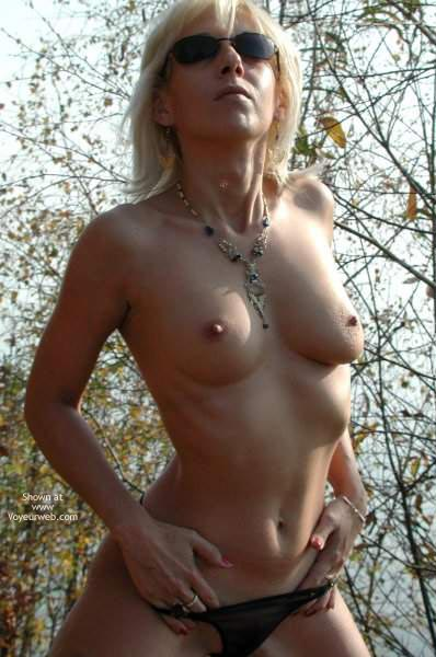 Topless Girl In Nature - Erect Nipples, Sunglasses, Thong , Topless Girl In Nature, Petite Tits, Outdoors Picture, Small Waist, Erected Nipples, Sunglasses, Black Thong