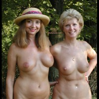 Two Nude Women - Full Nude, Nipple Ring, Nude Outdoors, Two Women , Two Nude Women, Fully Nude, Nipple Ring, Smooth Aerola, Flat Nipples, Nudism, Two Nude Ladies, Nude Outdoors