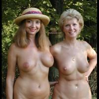 Two Nude Women - Full Nude, Nipple Ring, Nude Outdoors, Two Women , Two Nude Women, Fully Nude, Nipple Ring, Smooth Aerola, Flat Nipples, Nudism, Two Nude Ladies, Nude Outdoors