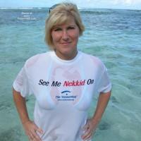 Wet T-shirt - Voyeur , Wet T-shirt, Voyeurweb Logo, Vw Logo, Ocean, See-through Shirt