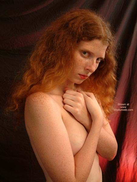 Red Hair  Freckles - Redhead, Standing , Red Hair  Freckles, Covering Tits, Redhead, Standing