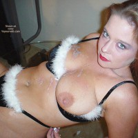 Black G-string , Black G-string, Post Moneyshot, Green Eyes, Black Bikini With White Fur, Big Nipple