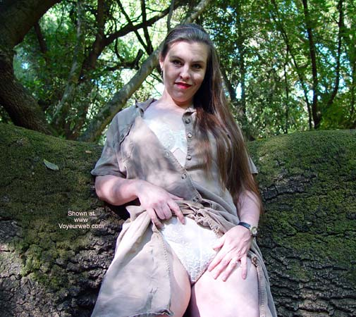 Pic #1 Bbw Vicki Gets Naked In The Forest