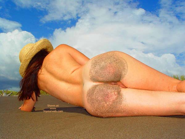 Ass In Sand - Nude Beach , Ass In Sand, Sandy Bottoms, On The Beach