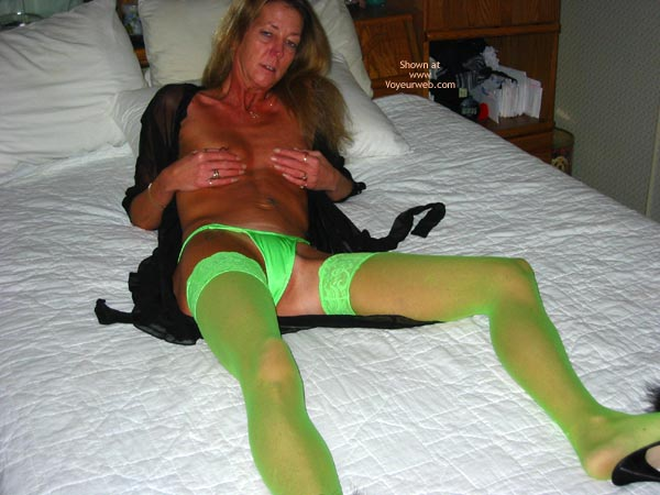 Pic #1 Sally In Thigh Highs And Fishnets