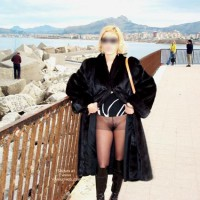 Bush Eip , Bush Eip, Outdoor Blonde In Panty Hose And Boots, Knee Boots