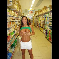 Boobs - Flashing , Boobs, Flashing, Grocery Shopping, Nude In Grocery Store, Flashing Boobs In Store, Tanned Titties, Grocery Flashing
