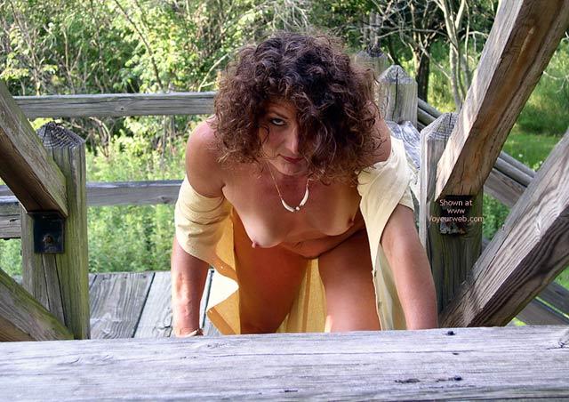 Wild Woman Stair Climb , Wild Woman Stair Climb, Open Yellow Dress