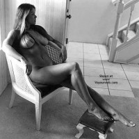 Nude On Chair - Black And White, Dark Hair, Long Legs , Nude On Chair, Big Delicious Breast, Black And White, Long Dark Hair, Nude By Window, Long Legs, Hair Over Boobs