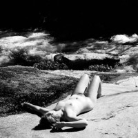 Black And White - Black And White, Full Nude, Beach Voyeur , Black And White, Beach Scene, Stretched Girl, Sunbath, Fully Nude