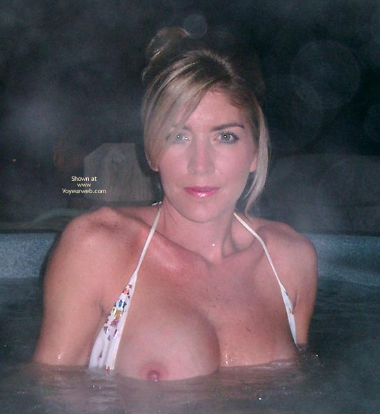 Pic #1 Meg, Hot Tub On A Cold Night