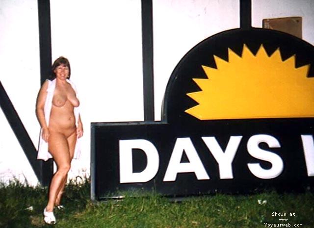 Pic #1 Purple Patty outside Days Inn