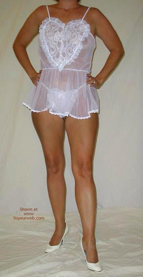 Pic #1 Kennedy In A White Babydoll