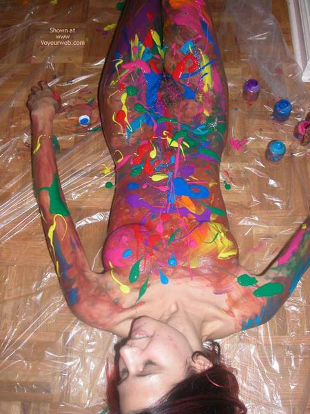 Finger Paint Party - Body Paint , Finger Paint Party, Body Paint, Laying With Paint
