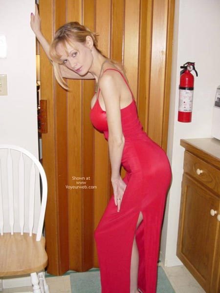 Pic #1 Sexy Red Dress & Heels