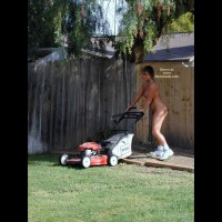 Tm Doing Yard Work Nude
