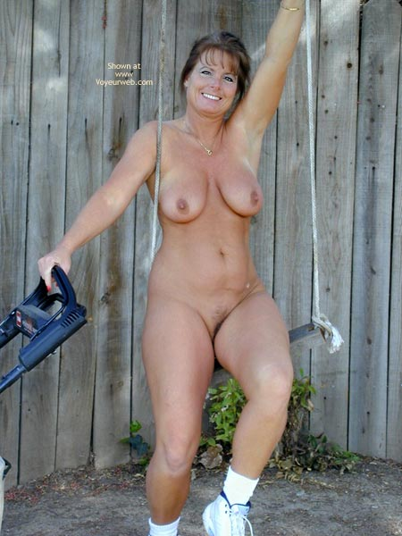 Naked yard work