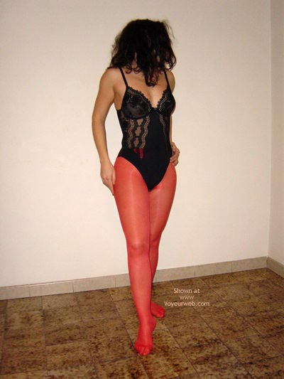 Pic #1 Dancing In Red Stockings