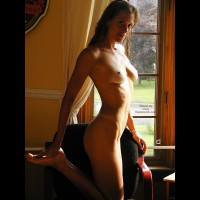 With Toys , With Toys, In Front Of The Window, Under Window Light, Slim Blonde, Perkie Tits, Sunlight Over Breasts