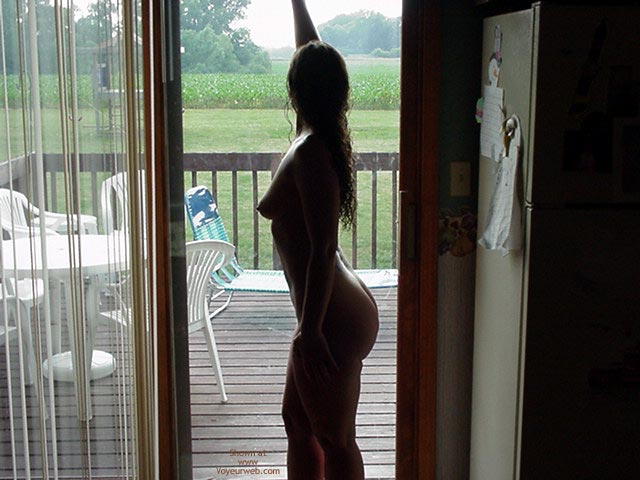 Naked Profile , Naked Profile, Nude On Veranda, Silouet, Back Deck Farm Yard, Porch