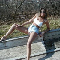 Marie on toboggan chutes 3