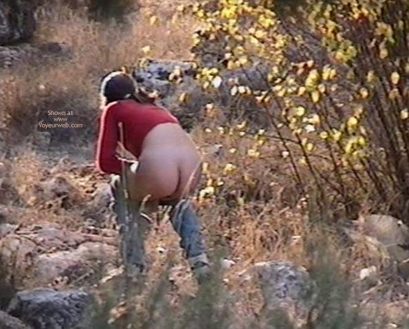 Pic #1 Girl make pee in the park