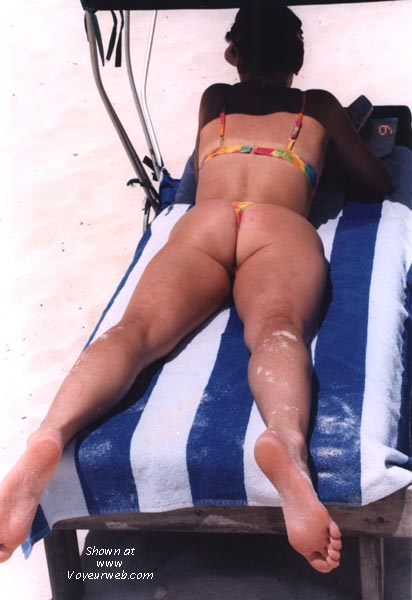 Pic #1 wife in various thong bikinis