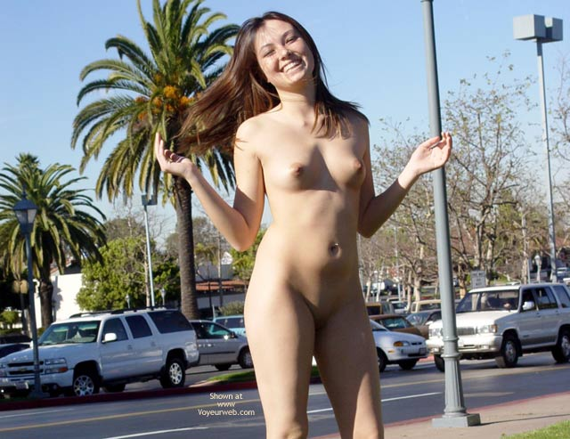 Nude In Public - Erect Nipples, Nude In Public, Shaved Pussy, Small Tits , Nude In Public, Shaved Pussy, Onlookers, Small Tits, Erect Nipples, Nude On Public Street, Laughing