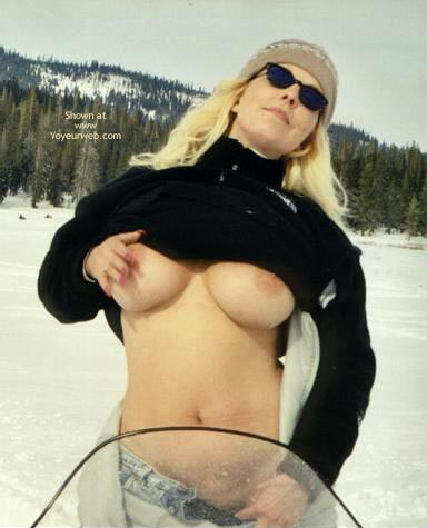 Flashing In Snow - Big Tits, Flashing Tits, Long Hair, Snow , Flashing In Snow, Big Tits, Long Blonde Hair, Tits In The Snow, Open Shirt Tits, Flashing Tits, Large Areola, Black Turtleneck