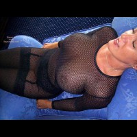 Fish Net - Nipples , Fish Net, In Chair, Bare Nipples, Laying