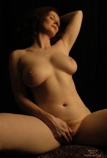 Full Breasted Frontal , Full Breasted Frontal, Big Red Bush Behing Hand
