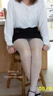 Pic #1 Fluffy In White Nylons