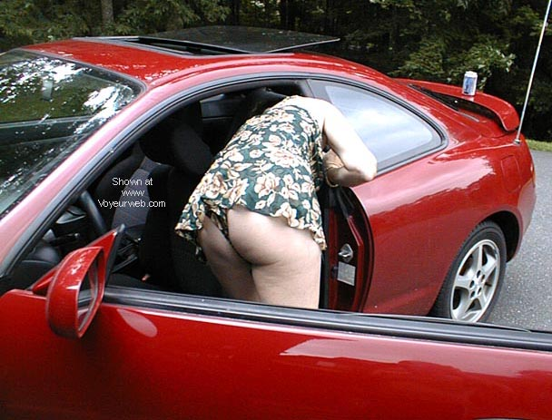 Pic #1 Becky cleaning the car