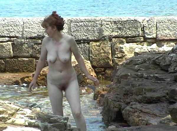 Pic #1 Valery On A Rocky Coast.
