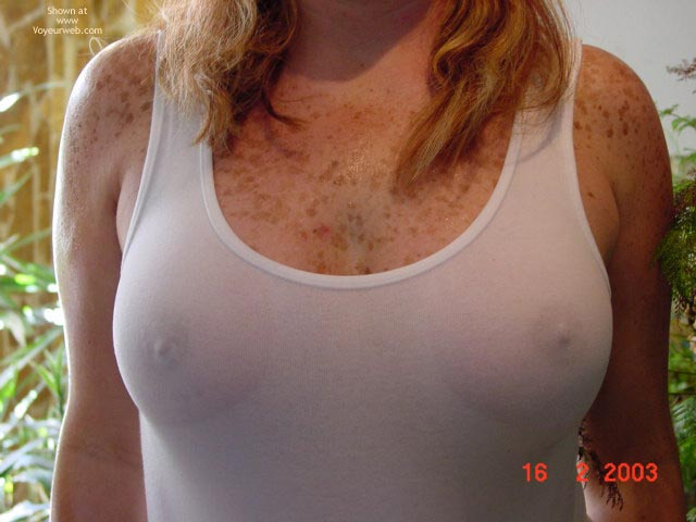 Nipples Errect Through Shirt - Freckles, Hard Nipple , Nipples Errect Through Shirt, Chest Freckles, Wet Tee Shirt, Hard Nipples, Peek-a-boo