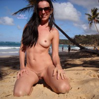 Kneeling Nude On Tropical Beach - Black Hair, Long Hair, Navel Piercing, Sunglasses, Trimmed Pussy, Naked Girl, Nude Amateur , Naked On The Beach, Little Areola, Pretty Face, Perky Nipples, Coconut Beach Beauty, Flat Belly, Puffy Pussy, Small Breast, Frontal Nude Girl Kneeling In Sand At Beach, Naked Dark-haired Woman Showing Tit And Pussy On Public Beach