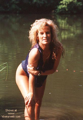Pic #1 Candy's 1st. Nudes at a fishing pond