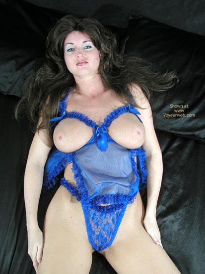 Pic #1 Nadine In Blue Lingerie