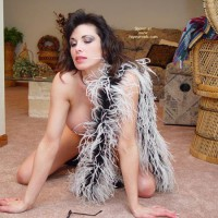 Lana In Feathers