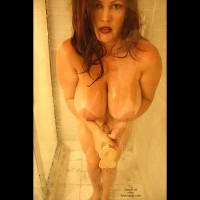 Dildo In The Shower - Big Tits, In The Shower, Wet , Dildo In The Shower, Big Tits, Flashing In The Shower, Shower Fun, Giant Areolas, Wet Tits