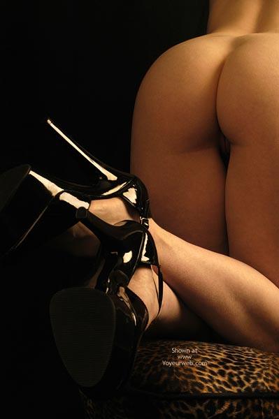 High Heels - Heels , High Heels, Black Patent Leather Stilleto Heels, Six Inch Heels, Fetish Heels With Ankel Straps