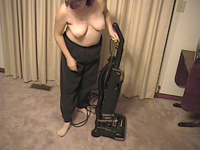 Pic #1 Wife Working Around House Topless