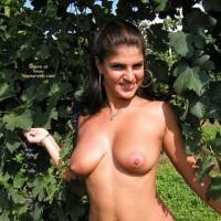 Big Tits And Areolas , Big Tits And Areolas, Frontal, Ear Rings, Posing Outdoors, Big Boobs In Vineyard