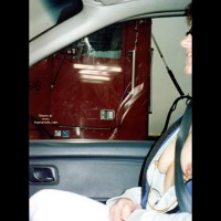 Bridget Flashing Truckers