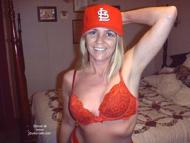 Pic #1 Bashful .....in Cardinals Red