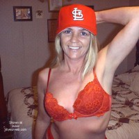Bashful .....in Cardinals Red
