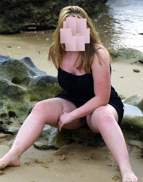 Pic #1 21 y/o wife nude on Spanish beach